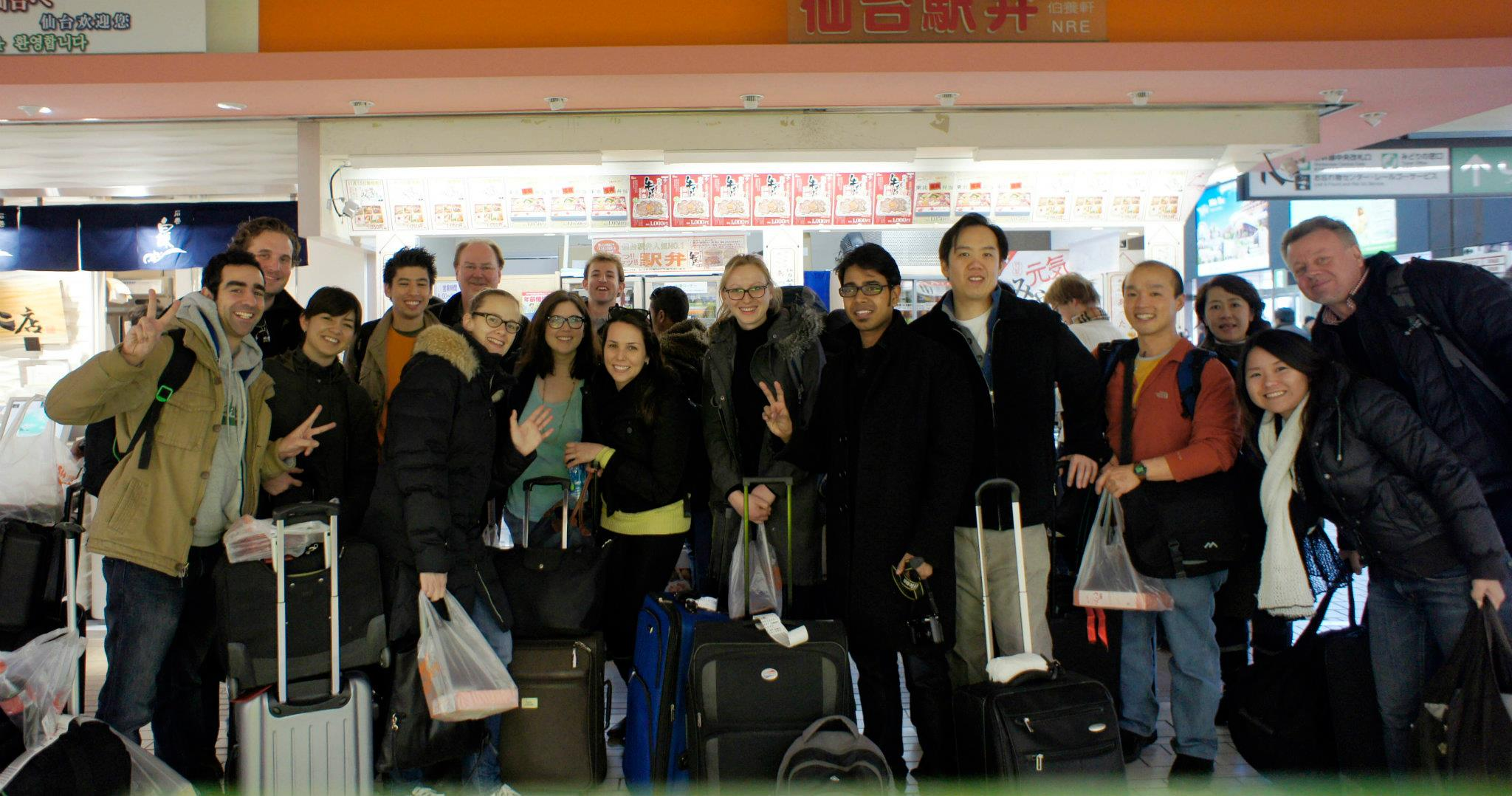 Arrival in Japan